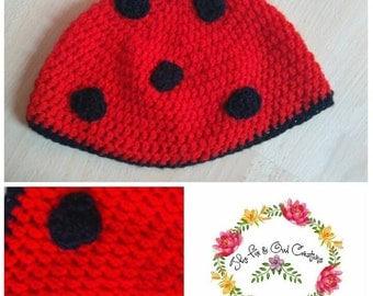 Ladybug Adult Hat