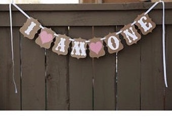 Banner / First Birthday / decorations / photo prop