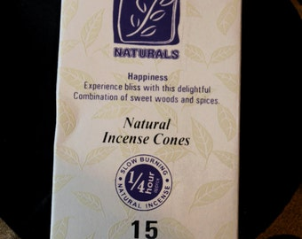 Incense cone of forest Naturals happiness
