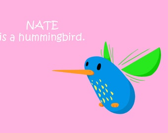 NATE Doodle Character 4x6 Digital Art Print DooFaYA