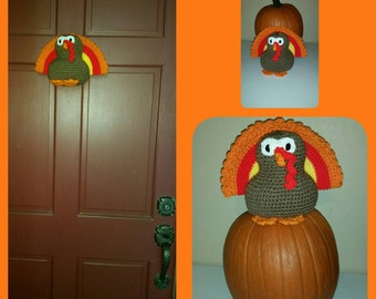Crochet Turkey Door Hanger Decoration Thanksgiving Turkey Decor Door Hanger or Table Decoration Fall & Turkey door hanger | Etsy pezcame.com