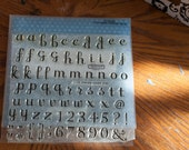 CTMH MyAcrylix Chocolate Alphabet (D1296)