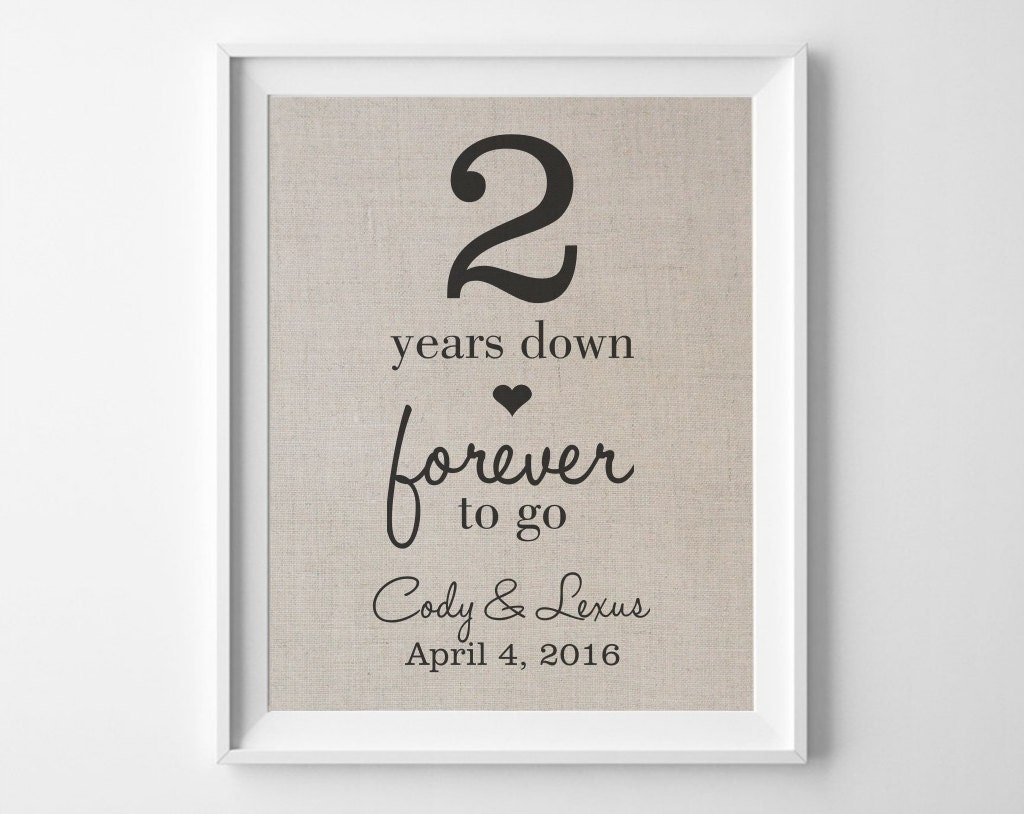 2 Years Down Forever To Go 2nd Second Wedding Anniversary