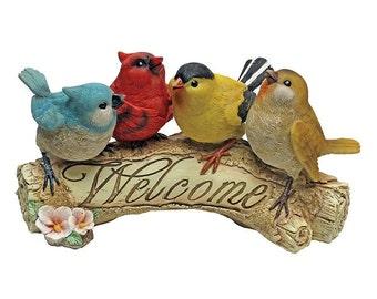 Design Toscano Birdy Welcome Statue, Multicolored