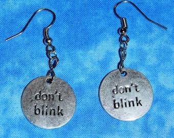 Doctor Who Don't Blink Dangle Earring