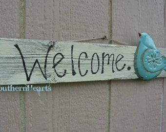 Welcome Sign / Bird Welcome Sign