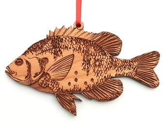Sunfish Ornament made from Black Cherry Wood
