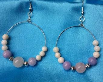 Unique Handmade Earrings. Mix stones
