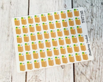 MINI SIZE Grocery Bag Planner Stickers -Planners//Personal Size  Planner