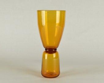 Hand Blown Beer Glass Bronze