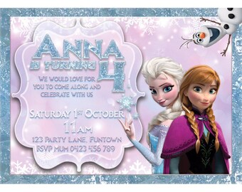 Frozen Print your Own Invitation Digital File