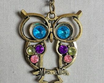 Long necklace Owl Jewelry Retro