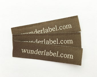 Sew On Labels - Text & Symbol - Fabric Labels | Knit Labels | 18 USD for 50 personalized Labels quilt label sewing label fabric tag