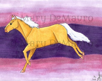 Golden One: Palomino Horse Original Art