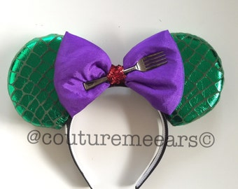 Ariel Mickey Ears, Little Mermaid Mickey Ears, Little Mermaid Ears, Ariel Minnie Ears, Ariel Disney Ears, Ariel Ears, Ariel