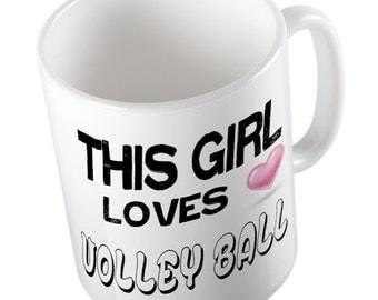 This Girl loves VOLLEYBALL Mug