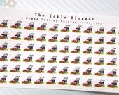 Grass Cutting Chore Planner Stickers Decorative Edition