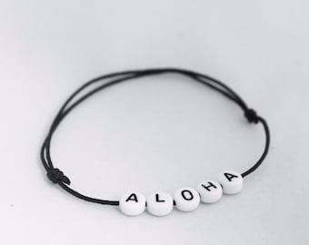 Waxcord bracelet 'ALOHA'