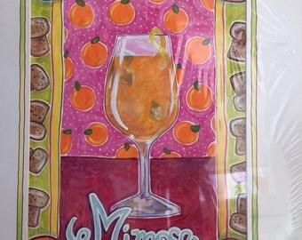 "Mimosa Original Gouache Painting 12"" x 18"""