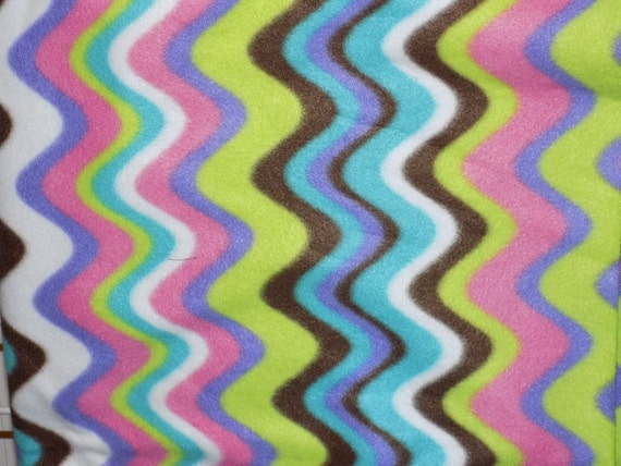 Dog Jammies multi colored wave pattern fleece
