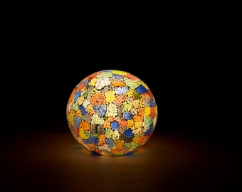 Vintage Stained Glass Globe Lamp for floor or table
