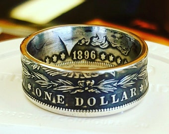 Coin Ring, Ring, Coin Rings, Coin Jewelry, Coin, Silver Coin Ring, Morgan Coin Ring, Silver Ring, Silver, Groomsman Gift