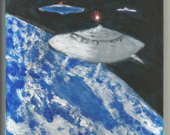 Spaceships Over Earth