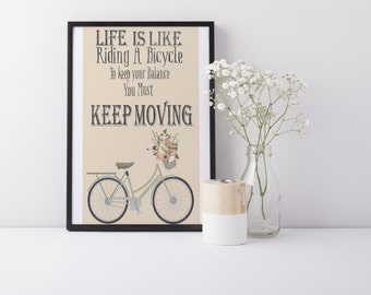 Vintage Bicycle Instant Digital Wall Art Printable