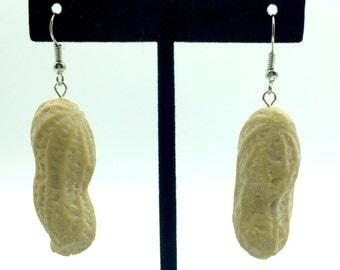 Fake food peanut hanging earrings realistic food jewelry