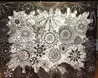 Mandala Acrylic Painting
