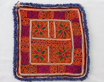 Hand Made Doilies - Afghan Table Cloths - Ethnic Tribal Kuchi - Vintage Doilies - Hand Embroidered - Traditional Nomadic Doilies # D09