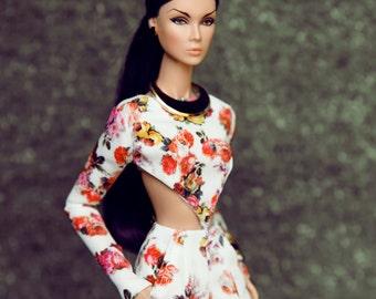 jumpsuit rose for fashion royalty , Poppy Parker, Silkstone Barbie, fr2 , 12'' Fashion Doll