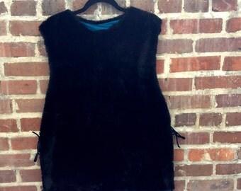Faux fur poncho style vest