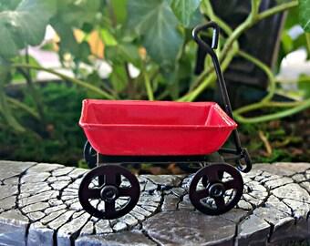 Miniature Teeny Red Wagon