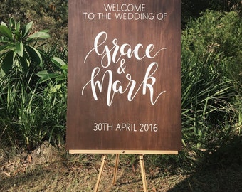 Personalised Wooden Wedding Sign | Welcome sign | Wedding Signage | Painted Sign | Rustic Wedding Sign | Wedding Decor | Event Sign