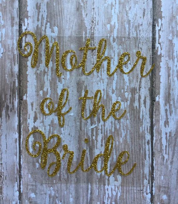 Mother of the Bride Iron on Decal/ Mother of the Groom Iron on Decal/ DIY Wedding Party Gift/ DIY Wedding Shirts/ DIY Rehearsal Dinner Shirt