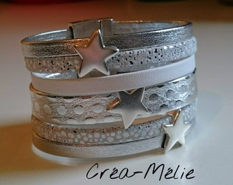 Silver cuff / passing White Star