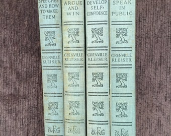 Grenville Kleiser Set of 4 Books 1912