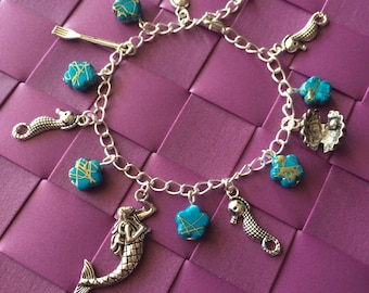 Bracelet charm Ariel Little Mermaid - Once upon a time