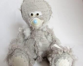 Fuglees inside out bear, small.  Horror Bear, Goth, Emo