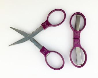 Slip-N-Snip Regular Blade Folding Scissors Cranberry Scissors Mini Scissors Portable Scissors Craft Scissors Scrapbooking Scissors