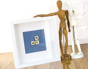 Mr & Mr scrabble tile wedding gift