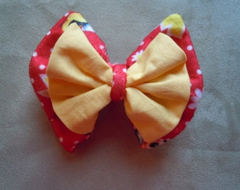 Disney Red Minnie Mouse Hair Bow. Size Large