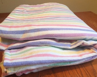Vintage Candy Stripe Double Flat Sheet