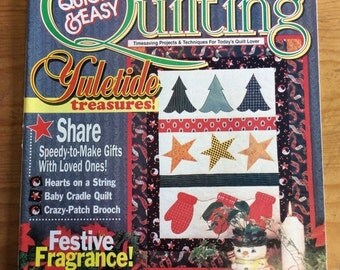 ON SALE Vintage Quilting Magazine, Quick and Easy, Quilting, 1994