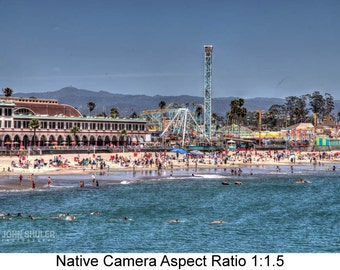 Santa Cruz Amusements: Seascape  art photography prints for home or office wall decor.