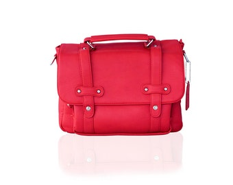 Near Perfect: Women Camera Bag - Stylish Messenger Camera Bag - Poppy Red - DSLR Bag - Crossbody Camera Bag