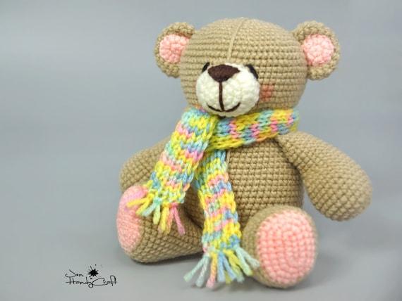 Teddy bear Baby shower gift Stuffed bear Plush bear lover gift Nursery decor Stuffed teddy bear Soft bear toy Stuffed animal