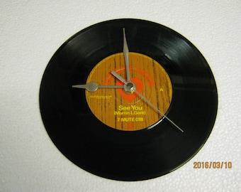 "Depeche Mode - ""See You"" Vinyl Record Wall Clock"