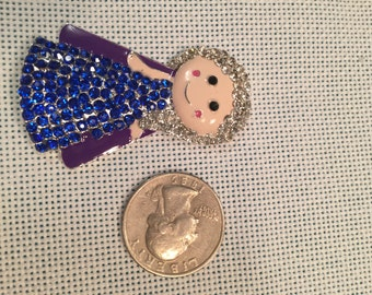 Crystal bling princess needle minder